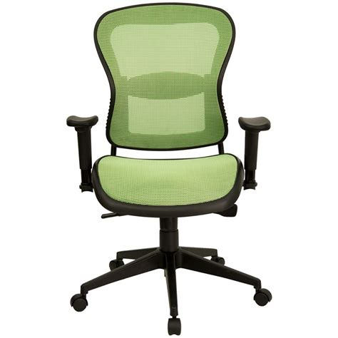 mid back green mesh contemporary office chair