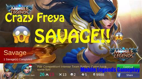 Crazy Freya Savage!!!!! Mobile Legends Gameplay