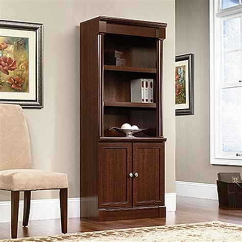 Sauder Bookcase Cherry sauder palladia select cherry storage open bookcase 412019