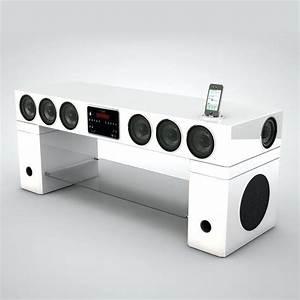 Meuble Tv Home Cinema Intégré : meuble tv enceinte hifi intagrae soundvision sv400w home ~ Melissatoandfro.com Idées de Décoration