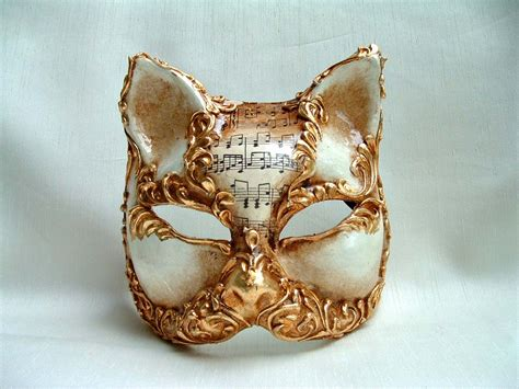 venetian cat mask cat oliani stucco gold venetian mask venetian