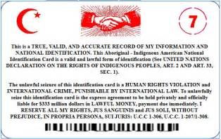 Moorish American National Card Identification