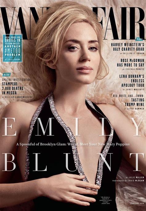 vanit fair emily blunt vanity fair magazine february 2018