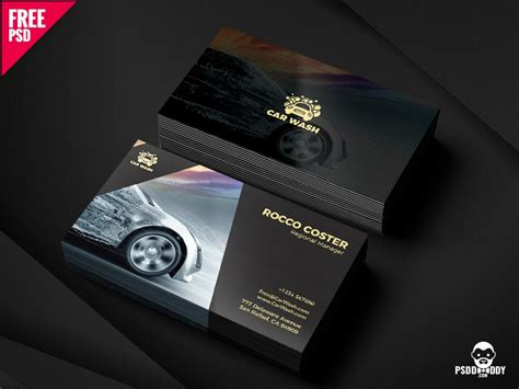 car wash business card  mohammed asif  dribbble