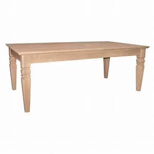 International concepts java unfinished coffee table ot 60c for Unfinished coffee table