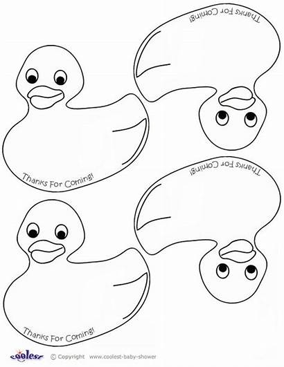 Coloring Duck Template Shower Pages Rubber Printable