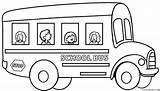 Coloring Bus Pages Printable Buses Children Cool2bkids Colouring Preschool Schoolbus Drawing Kindergarten Truck Monster sketch template