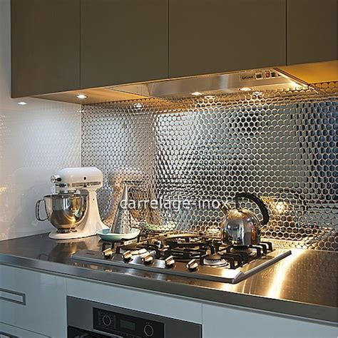 credence cuisine carrelage crédence cuisine inox miroir mosaique salle de bain