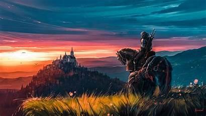 Witcher Artstation Fan Resolution Wallpapers Background 4k