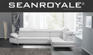 Canapé Blanc Design : canape design cuir blanc ~ Teatrodelosmanantiales.com Idées de Décoration