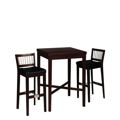 cherry wood pub table set home styles furniture 3 pc solid wood table bar stools