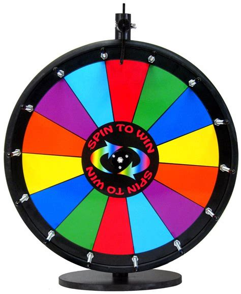 """18"""" Spin To Win Dry Erase Prize Wheel With 14 Sections On A Table Stand Ebay"""
