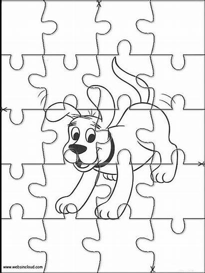 Actividades Rompecabezas Imprimir Puzzles Clifford Recortables Websincloud