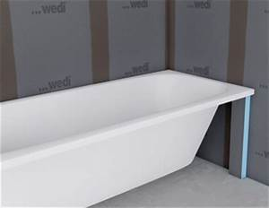 Baignoire Ilot Contre Mur : panneaux pr ts carreler une parfaite tanch it mise en ~ Nature-et-papiers.com Idées de Décoration