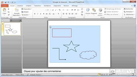 grouper word powerpoint texte zone 2007 dissocier