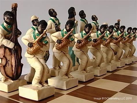 Jazz Painted Theme Chess Set