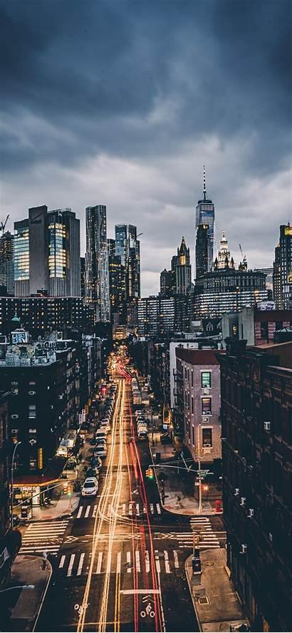 Iphone Skyline Scenery Cityscape Wallpapers Evening York