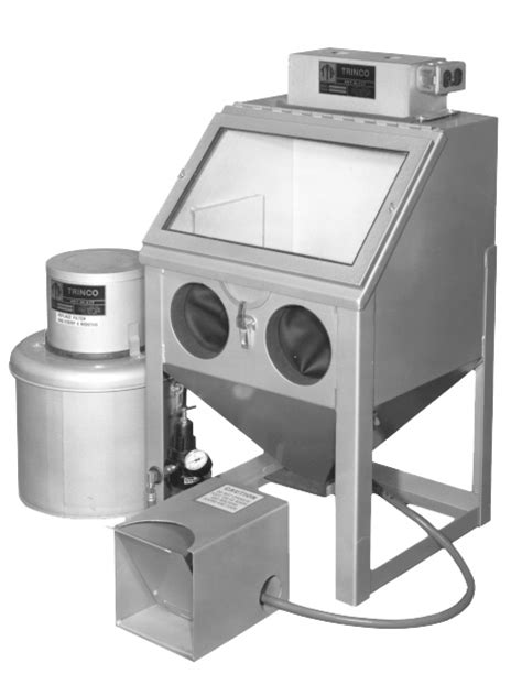 trinco sandblast cabinet gloves trinco model 20 benchtop suction blast cabinet with dust