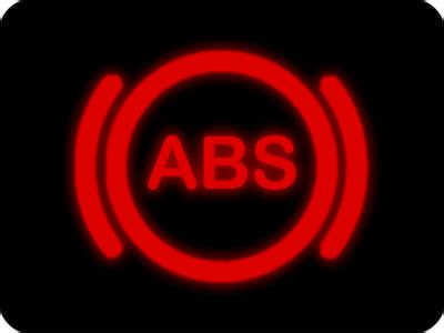 what does the abs light dashboard warning lights driving test tips