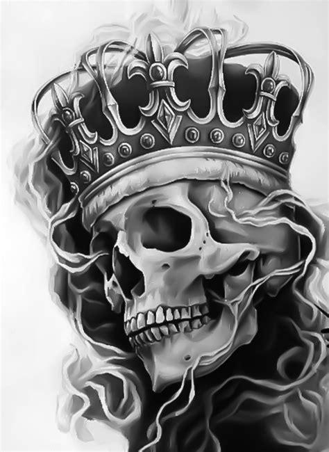 caveira tattoos tattoo vorlagen kronen und totenkopf