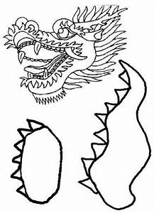 chinese dragon puppet template print the body parts onto With dragon cutout template