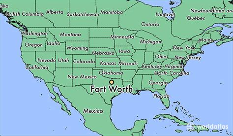 where is fort worth tx fort worth texas map