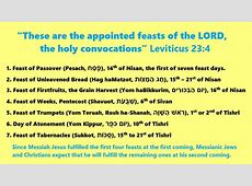 The Seven Biblical Feasts YouTube