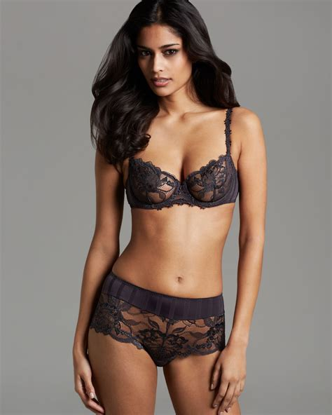 black wedges size 10 perele amour demi unlined underwire bra 13r330 in
