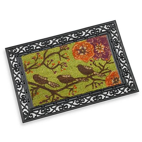 Doormat Frame by Rubber Door Mat Frame And Three Birds Decorative Insert