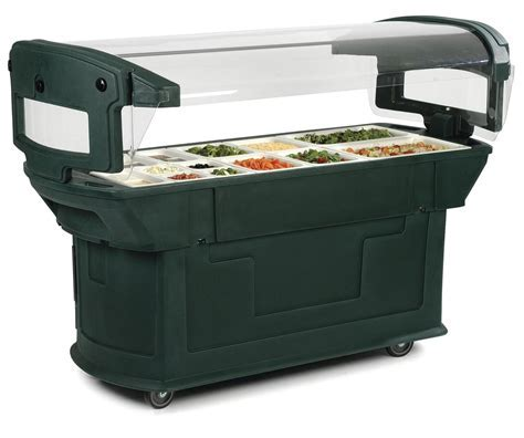 Carlisle 7711 6ft Maximizer Food Salad Bar Holds 6 Full