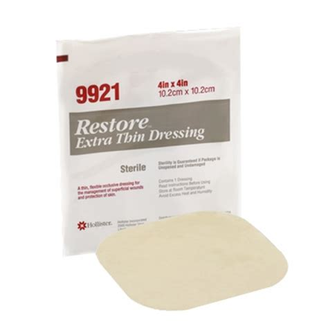 hollister  restore wound dressing cm  cm  piece
