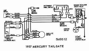 Mercury Colony Park Tailgate 1957 Rear Window Wiring Diagram