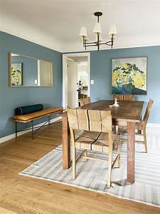 Coco, Kelley, Casual, Blue, Dining, Room, With, Warm, Wood, Accents