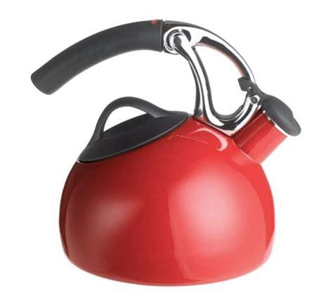 oxo good grips uplift tea kettle  quart red cutlery