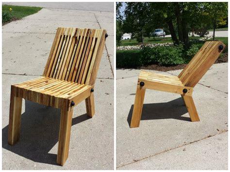 plan chaise de jardin en palette 3 chaises en palette à fabriquer