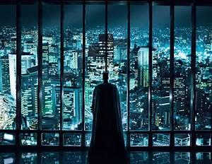 inicio y escape: Gotham City skyline