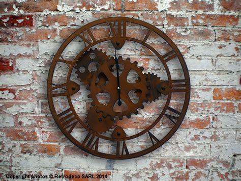 boite rangement bureau horloge engrenages déco industrielle antic line seb12437