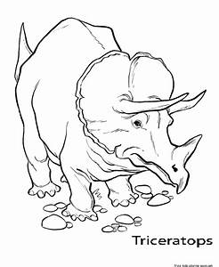 Printable Triceratops Coloring Pages For Kidsfree