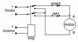 dc motor circuit to reverse polarity electrical With dpdt relay function