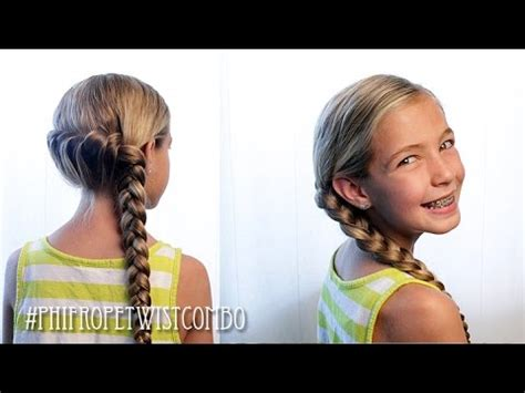 french rope twist combo braid pretty hair  fun youtube