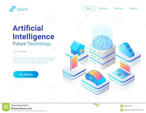 Isometric Flat Artificial Intelligence Brain Techn Stock Business Card Machine Japan Japanese Phone How To Print Indesign Lawyer Images Credit Analyst Jobs Give In Spanish Translation