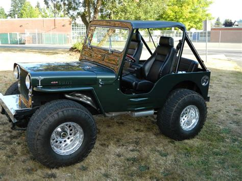 jeep willys custom 1946 jeep willys 454 complete frame off custom cars