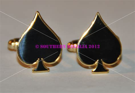 cufflinks poker cards southern regalia masonic