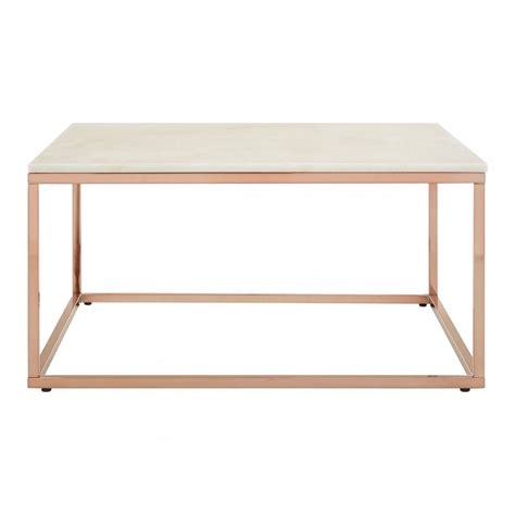 About this item exceptional quality: Enrich Square Rose Gold Coffee Table, Marble, Rose Gold | Clanbay