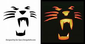 10 Free Halloween Scary & Cool Pumpkin Carving Stencils ...