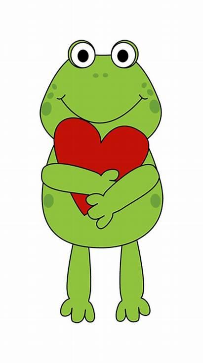 Valentine Valentines Clip Clipart Frog Cartoon Heart