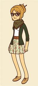 Image Gallery hipster girl cartoon