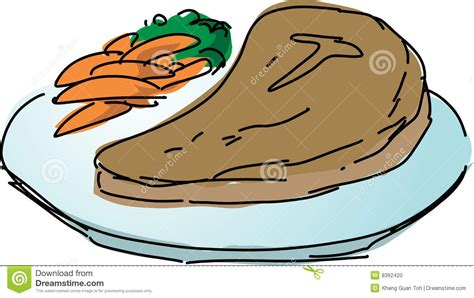 T-bone Steak Stock Illustration. Illustration Of Food