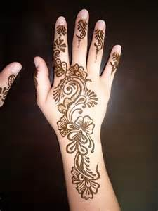 Easy Back Henna Designs for Hands Simple