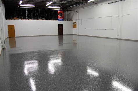 Dark Gray Epoxy Floor with Black Marble Flakes ? Warehouse